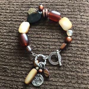 Gorgeous Silpada bracelet- brown tones
